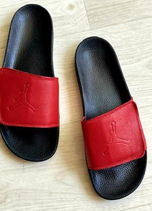 Осталось две пары 44 и 45 размер.распродажа.кожаные мужские шлепанцы jordan.кожаные9 фото