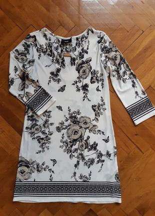 Летнее платье мини а-силуэт