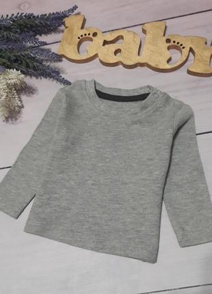 Джемпер футболка длинный рукав, кофта кнопки на плече