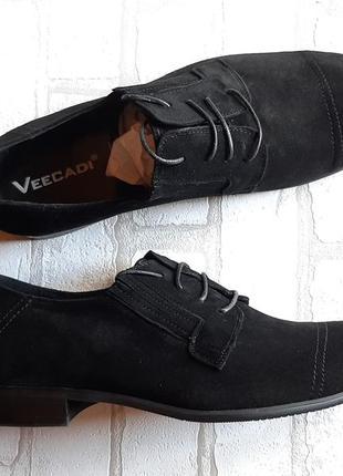 Классические мужские туфли из натуральной замши