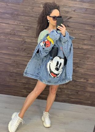 Джинсовая куртка микки джинсовый пиджак джинсовка
