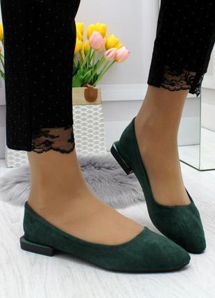 Новые шикарные женские зелёные  туфли лоферы