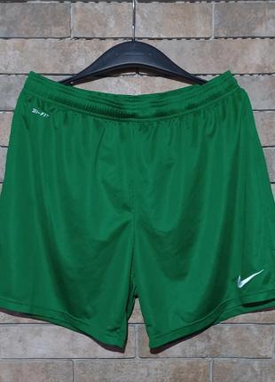 Nike dri-fit оригинал спортивные шорты для футбол спорт бега, размер l