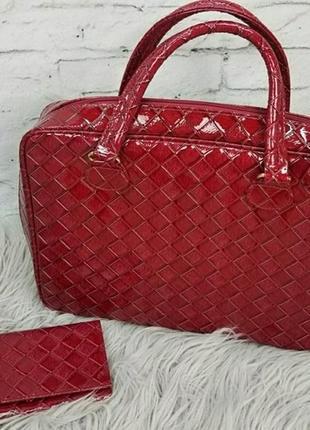 Комплект стильная сумка - кейс + портмоне (визитница)  estee lauder