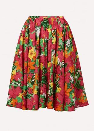 Пышная хлопковая юбка в цветочный принт befree