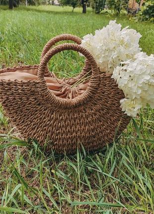 Акция!!плетёная сумка,сумка из соломы, соломенная сумка