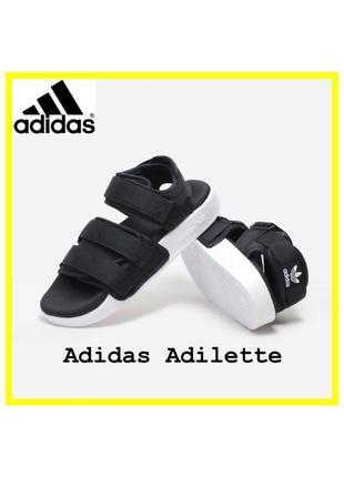 Женские черные сандали adidas adilette sandal женские босоножки