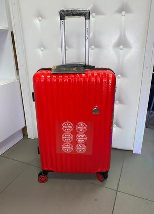 Распродажа чемоданов. карбоновый средний красный чемодан wings