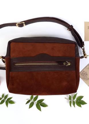 """Поясная сумка женская """"кориандр"""" (коричневый)"""
