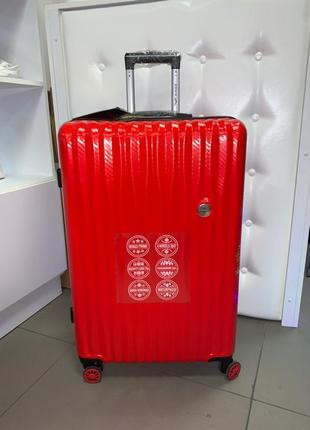 Распродажа. новый карбоновый большой красный чемодан