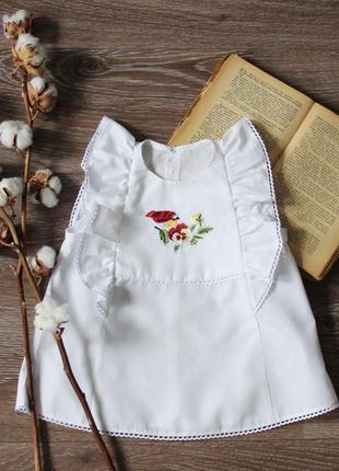 Детская туника для девочки,блузка с птичками на малышку,тренд 2020,нарядный топик