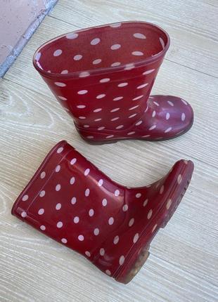Резиновые сапоги на девочку