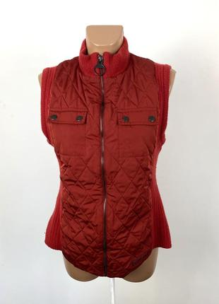 Куртка безрукавка barbour, стеганая