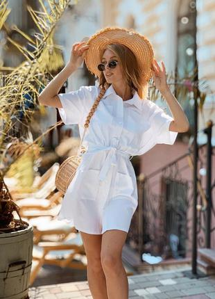 Лёгкое льняное платье