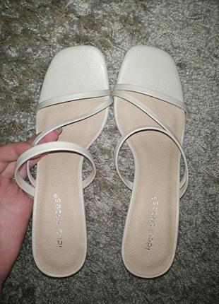 В наличии сабо шлепанцы босоножки квадратный носок тонкий каблук bottega