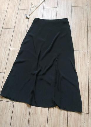 Натуральная свободная легкая юбка саободного кроя