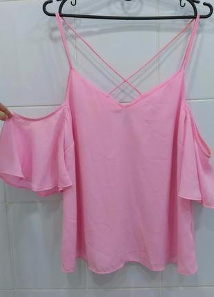 Милая розовая блуза с красивой спинкой