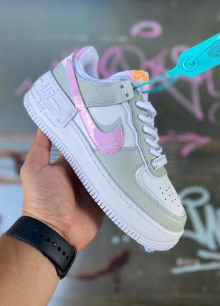 Кросівки кеди nike air force shadow grey/pink кроссовки кеди