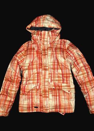 Куртка s/m мужская oakley пуховик брендовый лыжный узор светлая canada goose