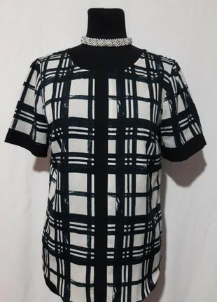 Блуза с завязкой на спинке 44размер