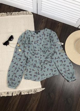 Мятная блуза в цветы primark