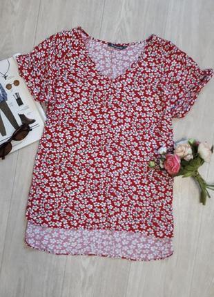Блуза вискоза в мелкий цветочек