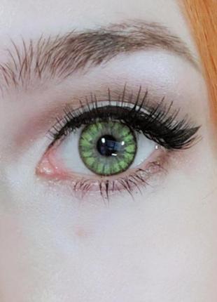 Зелёные контактные цветные линзы без диоптрий