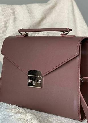 Трендовая сумка через плечо портфель винтажная сумка женская сумочка жіноча тренд 2020