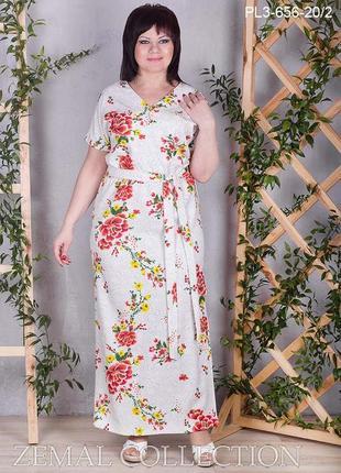 Легкое летнее платье р.60 тм zemal