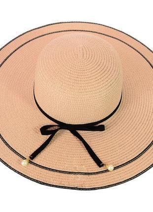 Шляпа широкополая из соломки 56-68