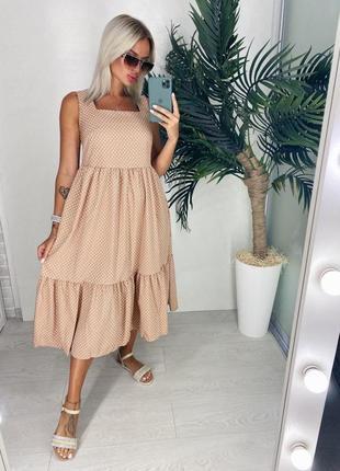 Сарафан платье женское на лето в горошек хит