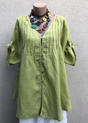 Льняная блуза,рубашка,большой размер,можно беременным,этно бохо стиль
