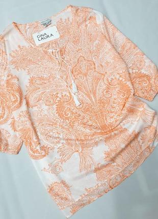 Gina laura блузка блуза рубашка сорочка 44 46 пог 61 см