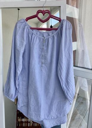 Голубая рубашка {блуза}