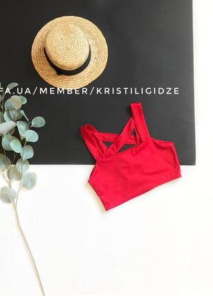 Распродажа!❤️ стильный красный топ под шифон с красивой спинкой в стиле zara