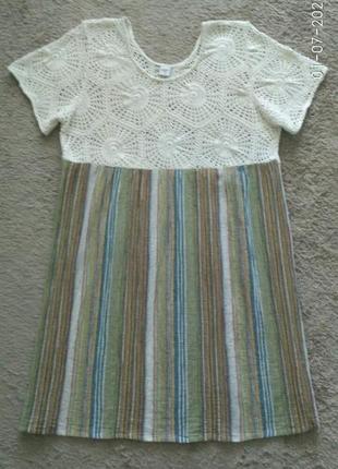 Летнее  платье с вязанным верхом cotton traders, р.20/48