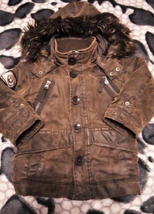 Демисезонная куртка парка на рост 92-98