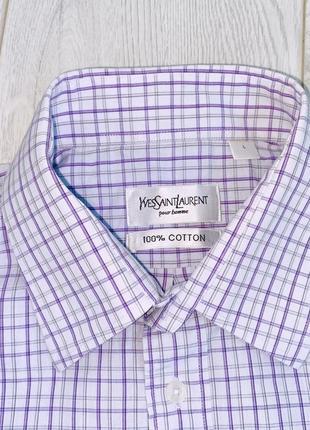 Рубашка yvves saint laurent 100%cotton (как prada gucci ,dior, hermes )