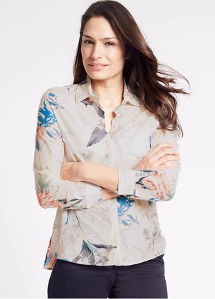 Рубашка с шелком marks & spencer