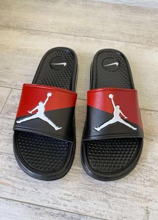 Jordan slide sandal logo red/black