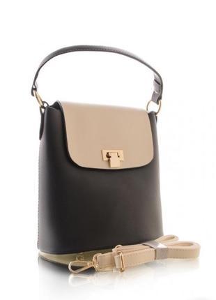 Средняя сумка на плечо, кроссбоди, двухцветная