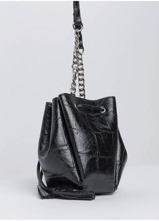 Сумка торба под крокодила в стиле zara