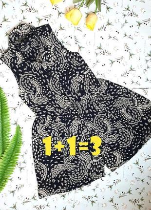 🎁1+1=3 стильное черное короткое платье в принт на пуговицах new look, размер 42 - 44