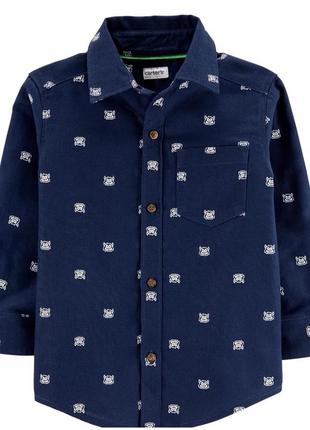 Хлопковая рубашка carters на 2 года
