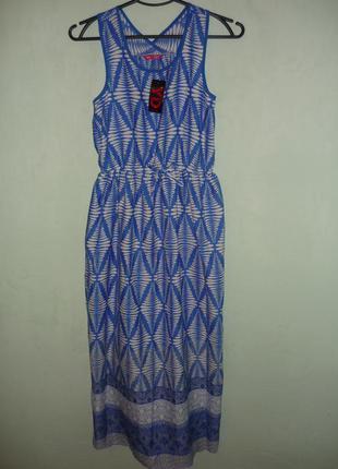 Классное платье в пол/миди р. xs
