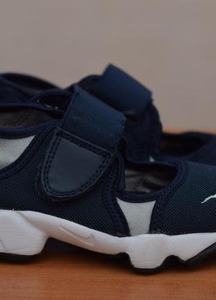 Детские синие кроссовки, кеды, босоножки, сандалии nike rift, 28 размер. оригинал