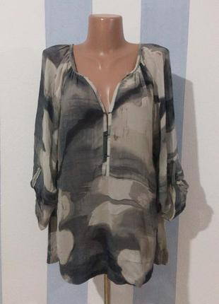 Шикарна блуза натуральний шовк  стан нової