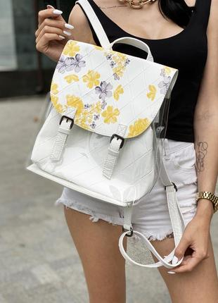 Классный летний рюкзак с прозрачными стенками