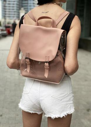 Стильный рюкзак с прозрачными стенками