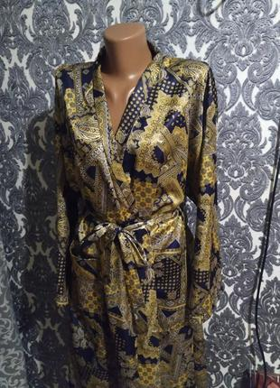Эксклюзив 😍✨💎трендовый дорогой халат кимоно в золотистый принт 😍😍✨